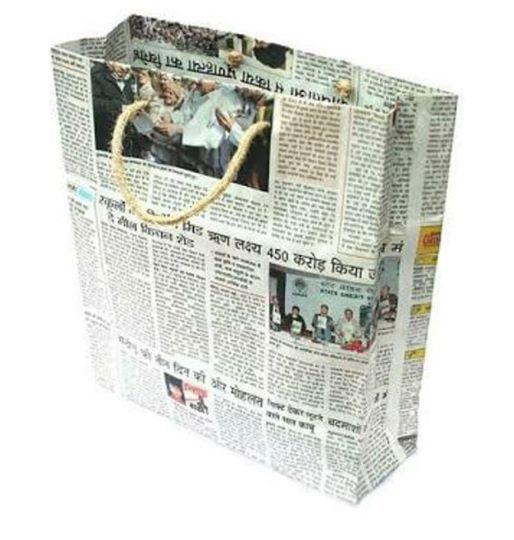 Newspaper bag making Workshop.