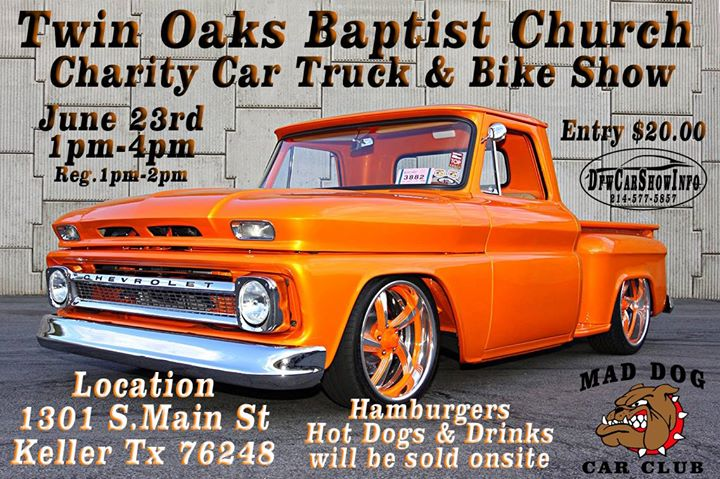 Twin Oaks Baptist Church Charity Car Show Keller - Keller car show