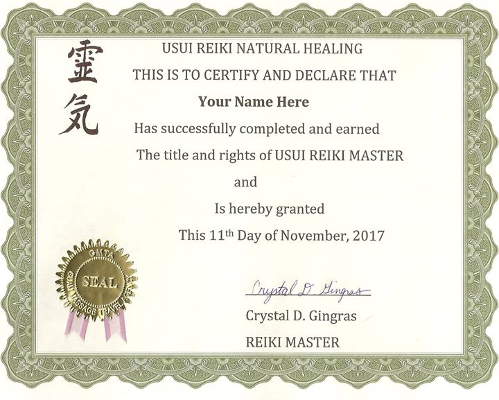 Reiki Certification on Guam Level I, II & Masters at ADIO ...