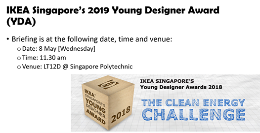 IKEA Singapores 2019 Young Designer Award at dcpe sp, Clementi