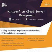 Cloud Server Management Miniconf-Delhi