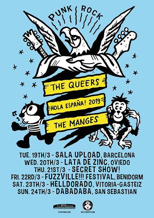 Holy Cuervo presenta The Queers  The Manges en Fuzzville Fest