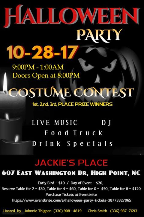 Halloween Parties Greensboro Nc