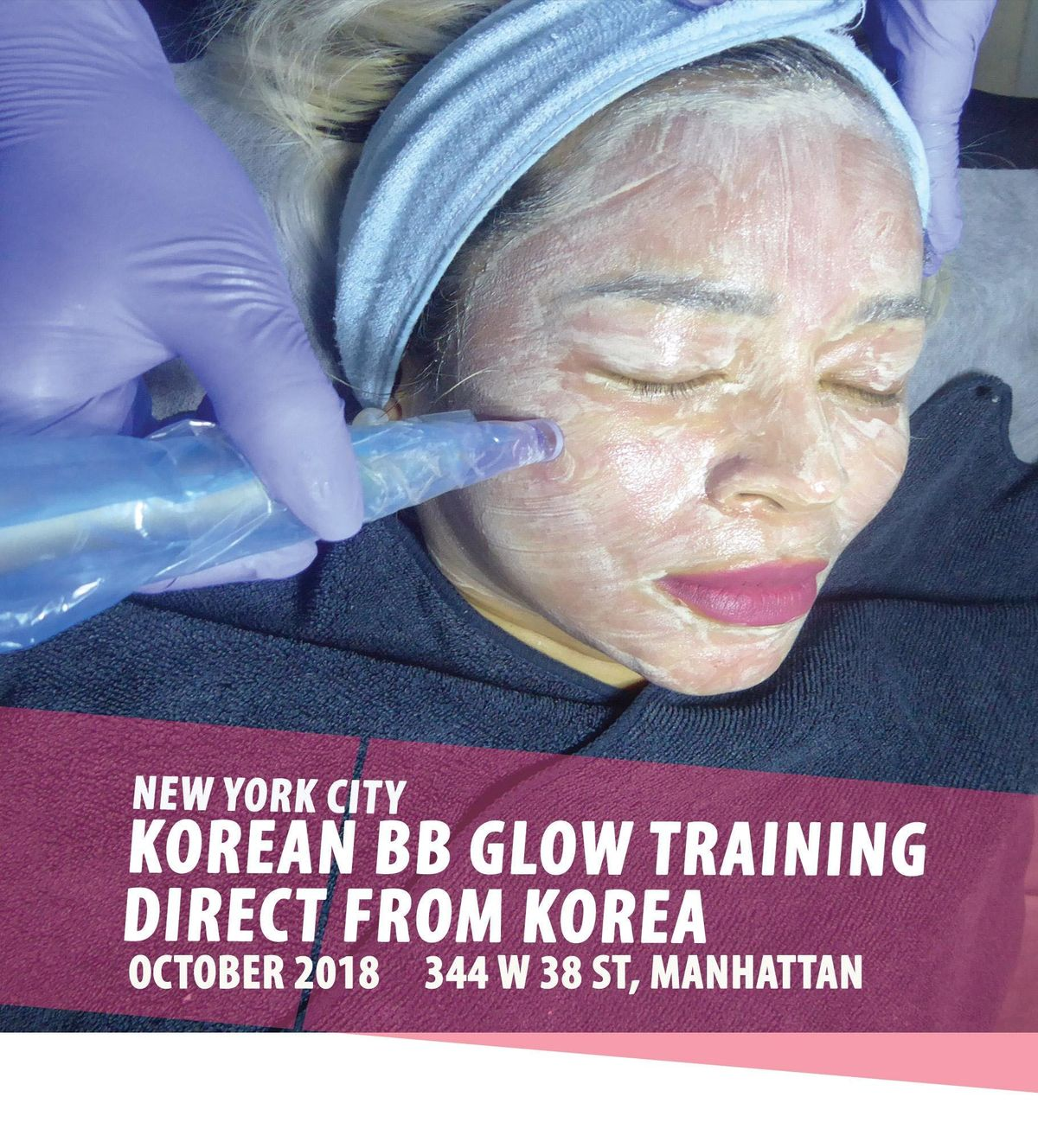 KOREAN WATERSHINE FULL BB GLOW TRAINING at 344 W 38th St, New York