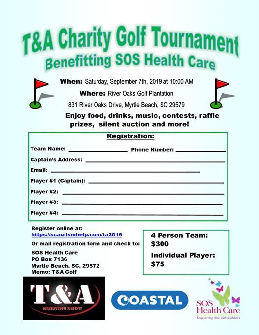 T&A Charity Golf Tournament Benefiting SOS Health Care | myrtle beach