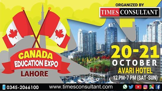 Canada Education Expo in Lahore at Avari Hotel (12pm to 7pm)