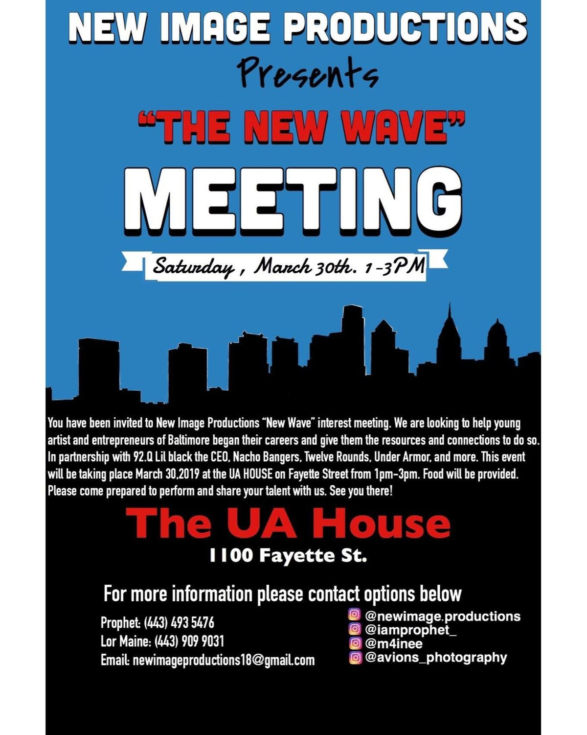 New Image Productions Interest Meeting
