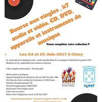 Bourse aux vinyles K7 audio et vido CD DVD