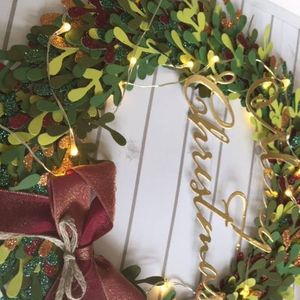 Light Up Christmas Wreath Frame At Make With Marguerite38 London