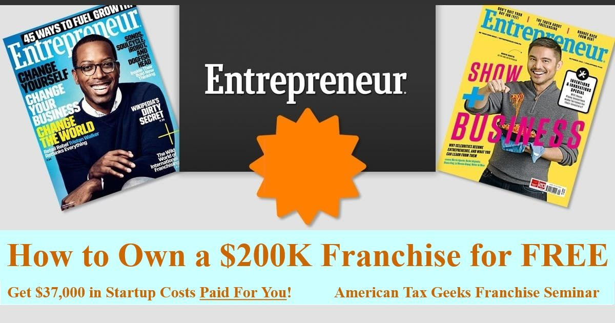How to Own a 200K Franchise for FREE. American Tax Geeks Franchise Seminar - Savannah