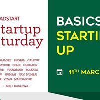 Basics of Starting Up - Startup Saturday Bangalore