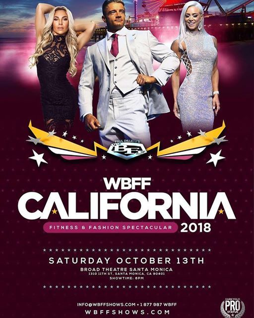 2018 WBFF Santa Monica California - October 13th at The Broad Stage