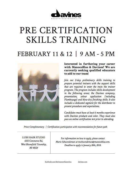 Davines Pre-Certification Skills Training at Lush Hair Studio, West ...