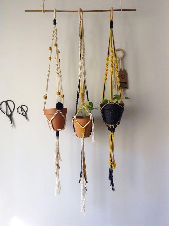 suspension pour plante en macram adulte at l 39 effet canop e lyon. Black Bedroom Furniture Sets. Home Design Ideas