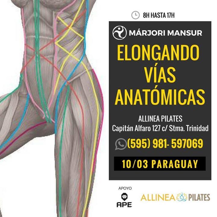 Elongando VIAS Anatomicas at Allinea Pilates, Asunción