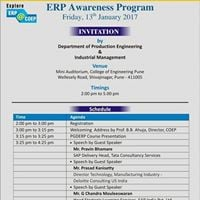 ERP Awareness Program for Prospective Students