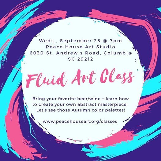 Fluid Art Paint & Sip Intro to Acrylic Pouring for Adults - 30
