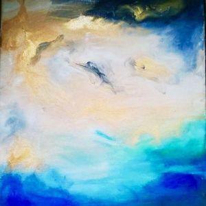 ArtNight Abstrakt Gold Blau am 29042019 in Kln
