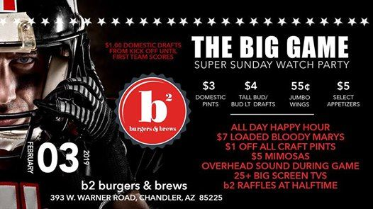 B2s Big Game Super Sunday Watch Party