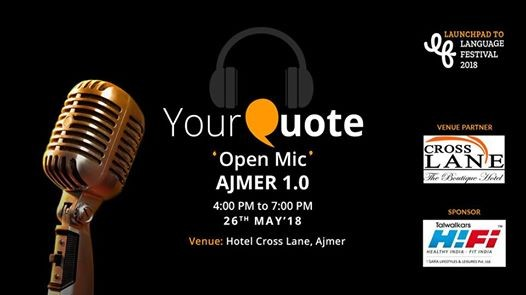 YourQuote Open Mic Ajmer 1.0