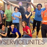 Service Unites Volunteering &amp Discussion at the Food Bank