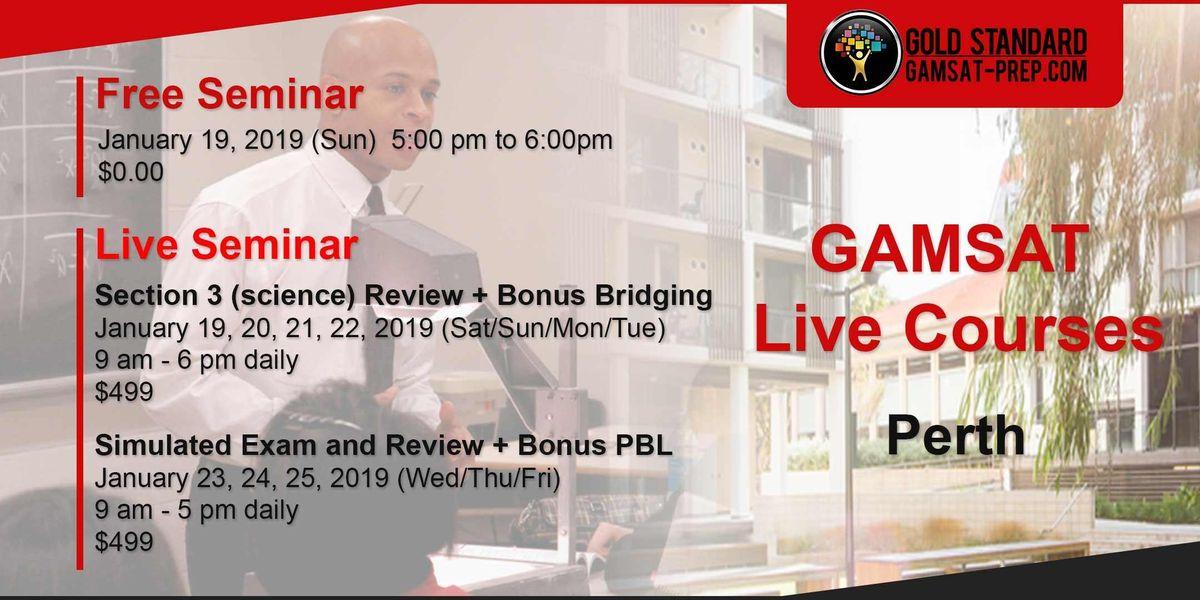GAMSAT Perth Free Seminar at UWA  Gold Standard