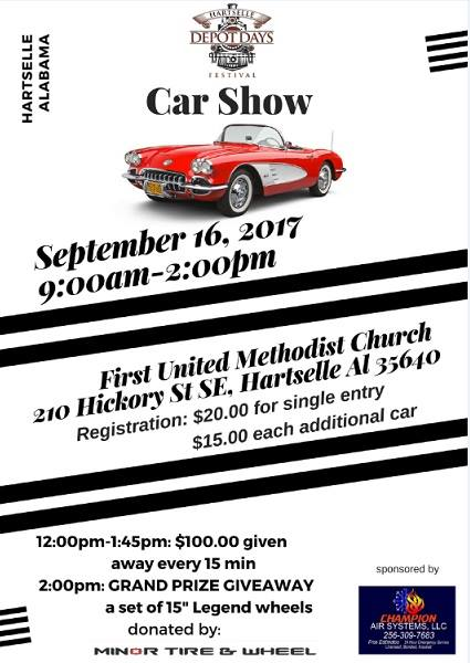 Depot Days Car Show at 210 Hickory St SE, Hartselle, AL 35640-2550