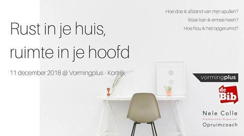 Kortrijk - Infoavond Rust in je huis ruimte in je hoofd