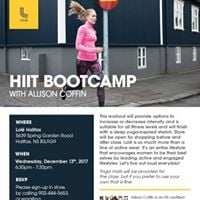 HIIT Bootcamp with Allison Coffin