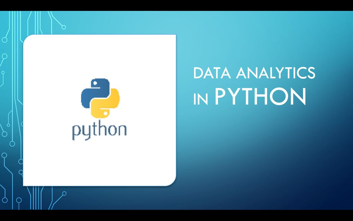 Data Analytics in Python Training (WeekDay) : Scipy, Numpy