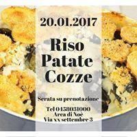 20.01.2017 Riso Patate &amp Cozze at Arca di No Verona