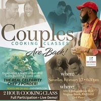 PART II VDAY COOKING CLASS DATE NOW AVAILABLE