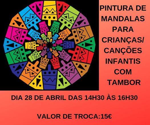 Pintura de Mandalas para Crianas  Canes Infantis com Tambor