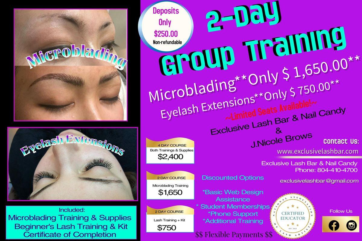 Eyelash Extensions & Microblading Training at Exclusive Lash