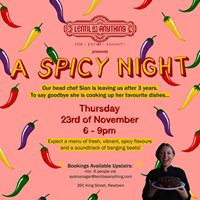 A Spicy Night - Farewell to Chef Sian