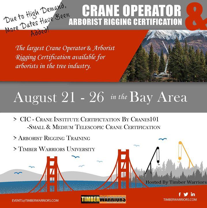 Crane Operator & Arborist Rigging Certification at City of Concord ...