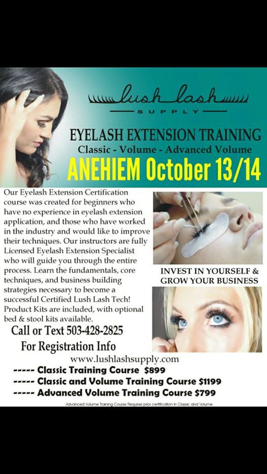 eyelash extension certification training aneheim ca at anaheim ...