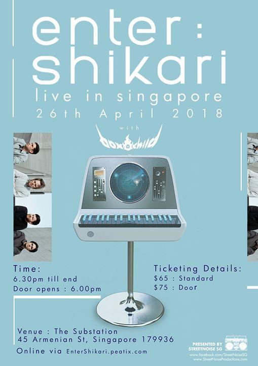 ENTER SHIKARI (UK) - Live in Singapore 26.04.18  The Substation