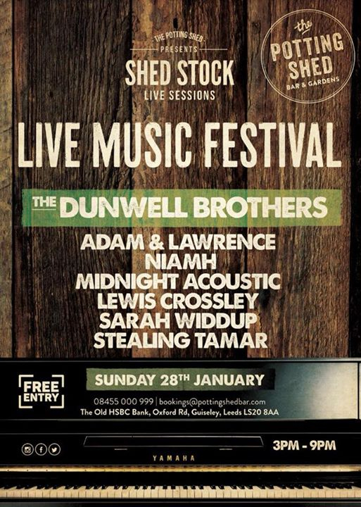 SHED STOCK 2018 at The Potting Shed - Guiseley, Guiseley