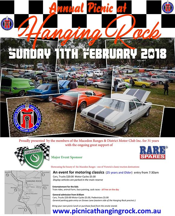 Annual Picnic At Hanging Rock Classic Car Show Newham - Car show display stand for sale
