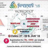 Workshop on Embedded Systems &amp Robotics