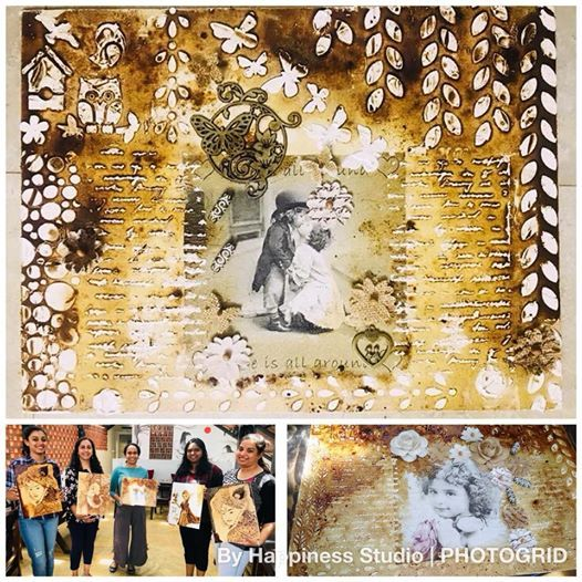 Mixed Media Coffee Painting Workshop