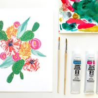 Intro to Watercolors Southwest Blooms