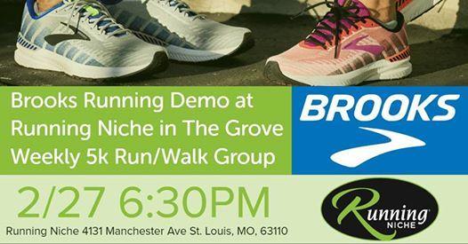bbb7b5969 Brooks Running Demo at Running Niche Weekly 5k Run/Walk Group | St. Louis