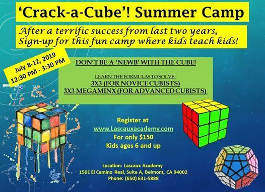 Crack-a-Cube at Lascaux Academy, Belmont