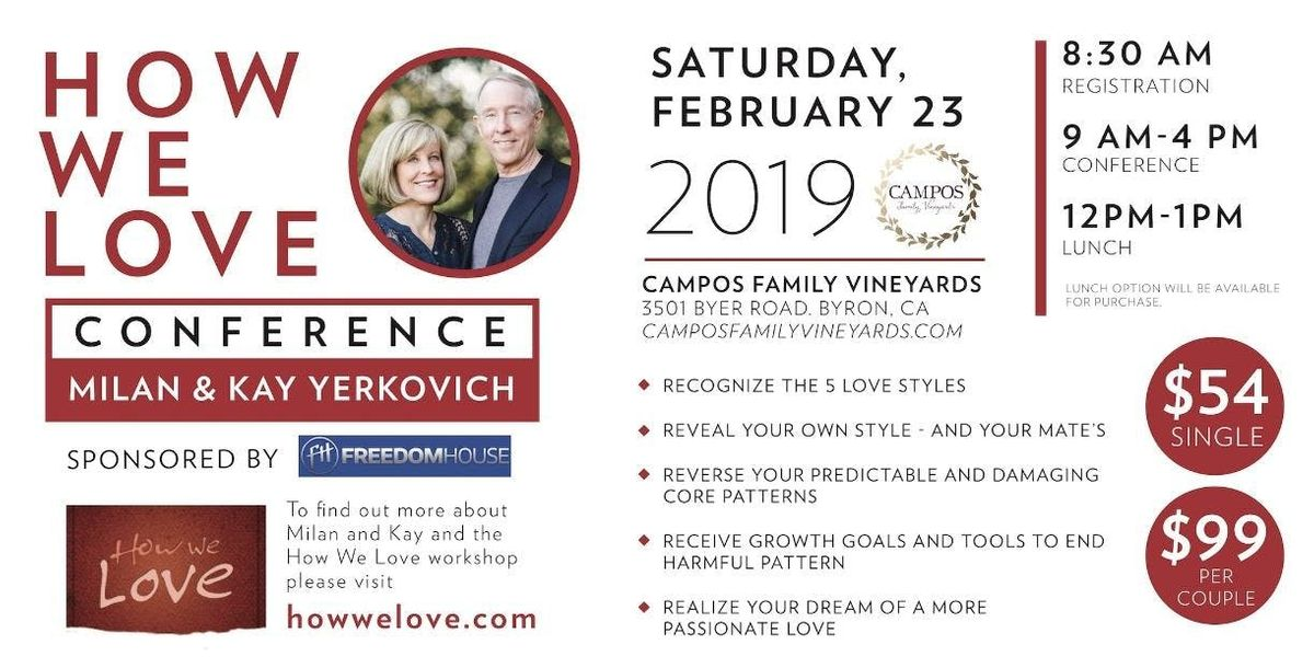 How We Love - Relationship Conference