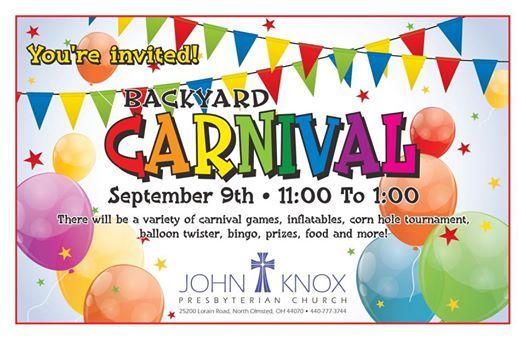 Backyard Carnival backyard carnival at john knox presbyterian church, ohio