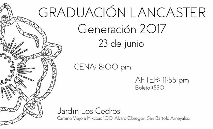 Graduaci n lancaster 2017 at jardin los cedros mexico city for Jardin los cedros