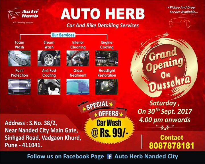 Grand Opening On Dussehra At Auto Herb Nanded City Pune