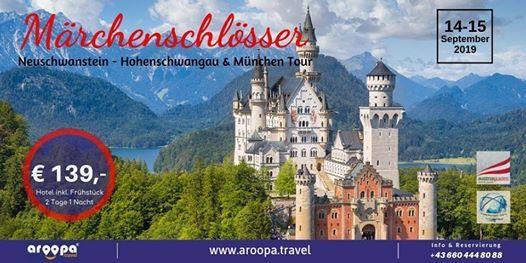 Mrchenschlsser & Mnchen Tour 1 Nacht inkl. Frhstck  139-